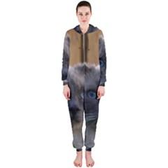 Ragdoll, Blue Hooded Jumpsuit (Ladies)