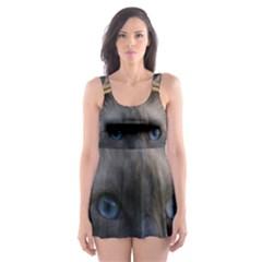 Ragdoll, Blue Skater Dress Swimsuit