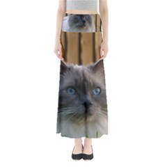 Ragdoll, Blue Full Length Maxi Skirt