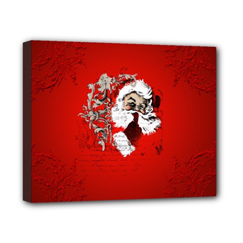 Funny Santa Claus  On Red Background Canvas 10  x 8