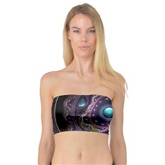 Beautiful Turquoise and Amethyst Fractal Jewelry Bandeau Top