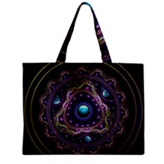 Beautiful Turquoise and Amethyst Fractal Jewelry Mini Tote Bag