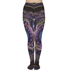 Beautiful Turquoise and Amethyst Fractal Jewelry Women s Tights