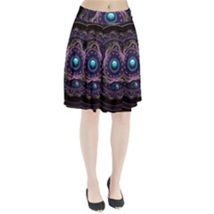 Beautiful Turquoise and Amethyst Fractal Jewelry Pleated Skirt