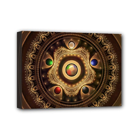 Gathering the Five Fractal Colors Of Magic Mini Canvas 7  x 5
