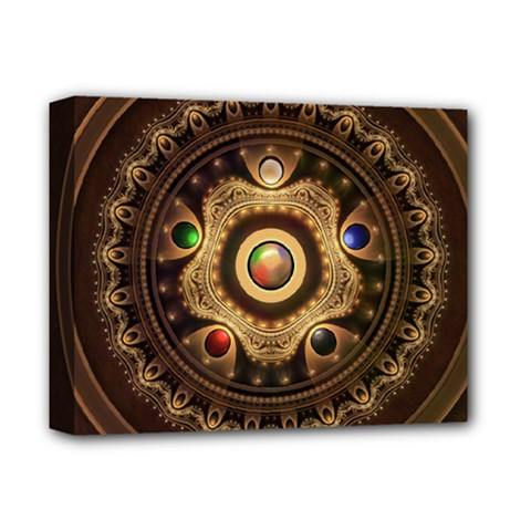 Gathering the Five Fractal Colors Of Magic Deluxe Canvas 14  x 11