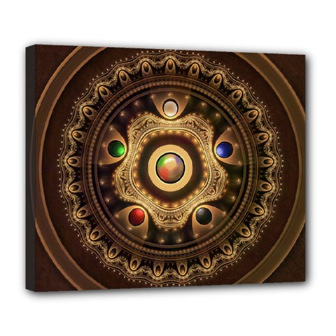 Gathering the Five Fractal Colors Of Magic Deluxe Canvas 24  x 20