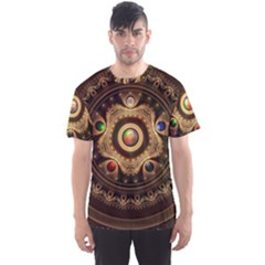 Gathering the Five Fractal Colors Of Magic Men s Sports Mesh Tee