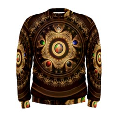 Gathering the Five Fractal Colors Of Magic Men s Sweatshirt
