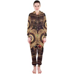 Gathering the Five Fractal Colors Of Magic Hooded Jumpsuit (Ladies)