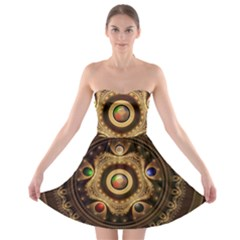 Gathering the Five Fractal Colors Of Magic Strapless Bra Top Dress