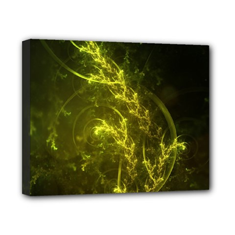 Beautiful Emerald Fairy Ferns in a Fractal Forest Canvas 10  x 8