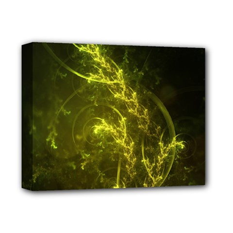 Beautiful Emerald Fairy Ferns in a Fractal Forest Deluxe Canvas 14  x 11