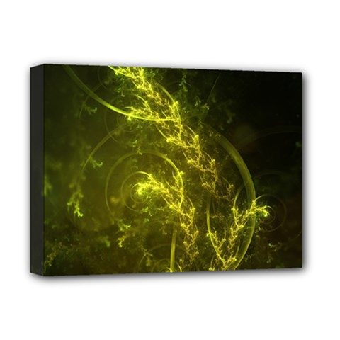 Beautiful Emerald Fairy Ferns in a Fractal Forest Deluxe Canvas 16  x 12