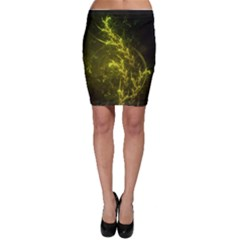 Beautiful Emerald Fairy Ferns in a Fractal Forest Bodycon Skirt