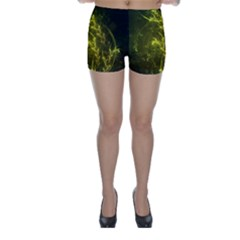 Beautiful Emerald Fairy Ferns in a Fractal Forest Skinny Shorts