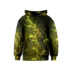Beautiful Emerald Fairy Ferns in a Fractal Forest Kids  Pullover Hoodie