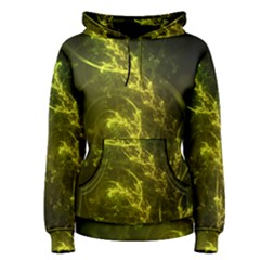Beautiful Emerald Fairy Ferns in a Fractal Forest Women s Pullover Hoodie
