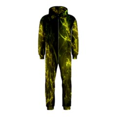 Beautiful Emerald Fairy Ferns in a Fractal Forest Hooded Jumpsuit (Kids)