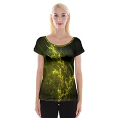 Beautiful Emerald Fairy Ferns in a Fractal Forest Cap Sleeve Tops