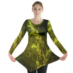 Beautiful Emerald Fairy Ferns in a Fractal Forest Long Sleeve Tunic