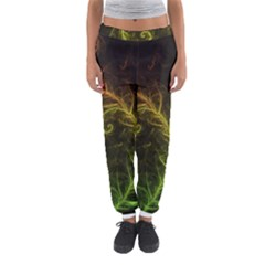 Fractal Hybrid Of Guzmania Tuti Fruitti and Ferns Women s Jogger Sweatpants