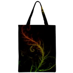 Fractal Hybrid Of Guzmania Tuti Fruitti and Ferns Zipper Classic Tote Bag