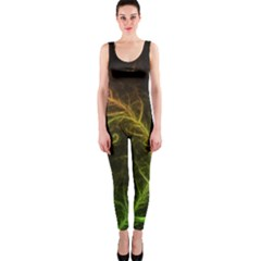 Fractal Hybrid Of Guzmania Tuti Fruitti and Ferns OnePiece Catsuit