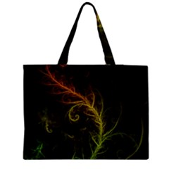 Fractal Hybrid Of Guzmania Tuti Fruitti and Ferns Medium Zipper Tote Bag