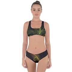Fractal Hybrid Of Guzmania Tuti Fruitti And Ferns Criss Cross Bikini Set