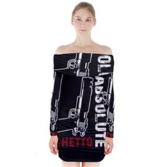 Absolute ghetto Long Sleeve Off Shoulder Dress