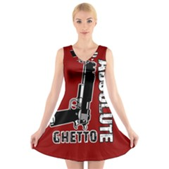 Absolute ghetto V-Neck Sleeveless Skater Dress