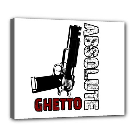 Absolute ghetto Deluxe Canvas 24  x 20