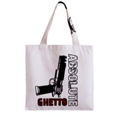 Absolute ghetto Zipper Grocery Tote Bag