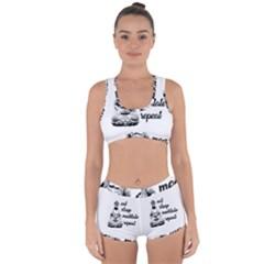 Eat, Sleep, Meditate, Repeat  Racerback Boyleg Bikini Set