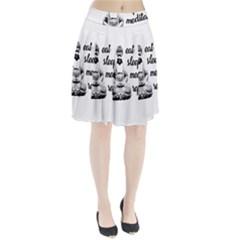 Eat, sleep, meditate, repeat  Pleated Skirt