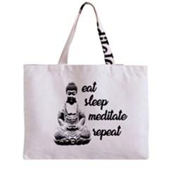 Eat, sleep, meditate, repeat  Medium Tote Bag