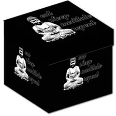 Eat, sleep, meditate, repeat  Storage Stool 12