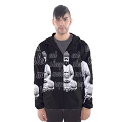 Eat, sleep, meditate, repeat  Hooded Wind Breaker (Men)