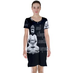 Eat, sleep, meditate, repeat  Short Sleeve Nightdress