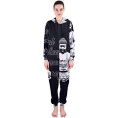 Eat, sleep, meditate, repeat  Hooded Jumpsuit (Ladies)