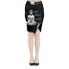 Eat, sleep, meditate, repeat  Midi Wrap Pencil Skirt