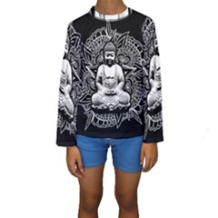 Ornate Buddha Kids  Long Sleeve Swimwear