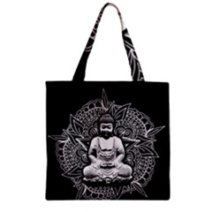 Ornate Buddha Zipper Grocery Tote Bag