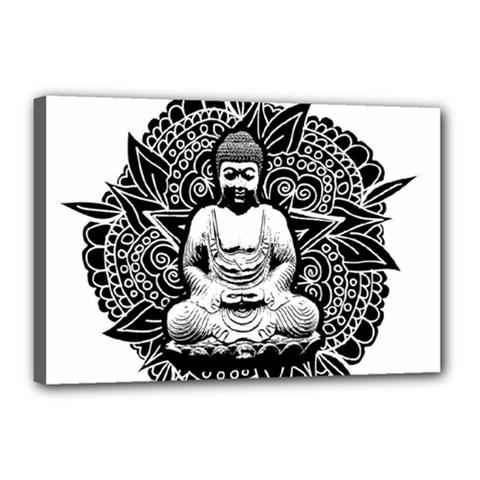 Ornate Buddha Canvas 18  x 12