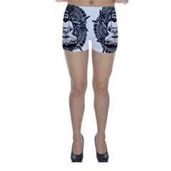 Ornate Buddha Skinny Shorts