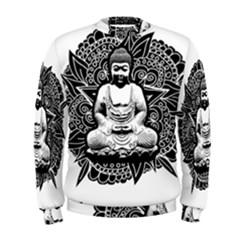 Ornate Buddha Men s Sweatshirt