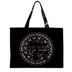 Ornate mandala elephant  Mini Tote Bag