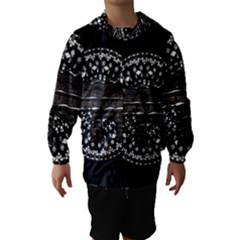 Ornate mandala elephant  Hooded Wind Breaker (Kids)