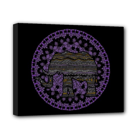 Ornate mandala elephant  Canvas 10  x 8